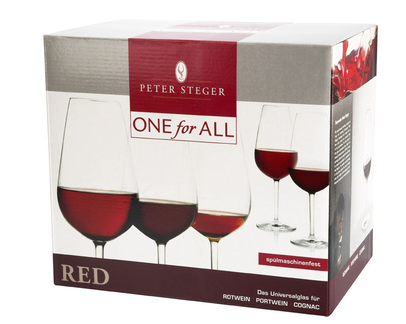 Weinglas ONE for All Red Gastroversion mit 0,1 und 0,2 Doppeleiche