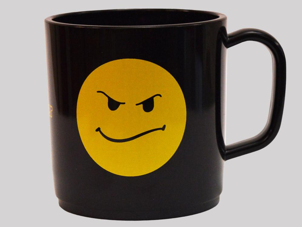 Proper Smiley Mug Black