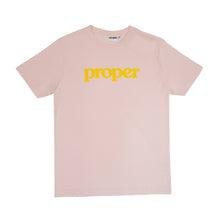 Proper 'Flock Logo' T-Shirt - Pink/Yellow