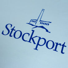 Proper 'Flock Logo' Stockport T-Shirt - Sky/Royal