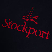 Proper 'Flock Logo' Stockport T-Shirt - Navy/Red