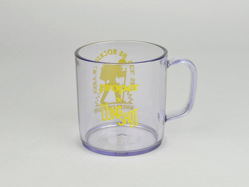 Proper x Long Shot Trek Man Mug - Clear with Lemon