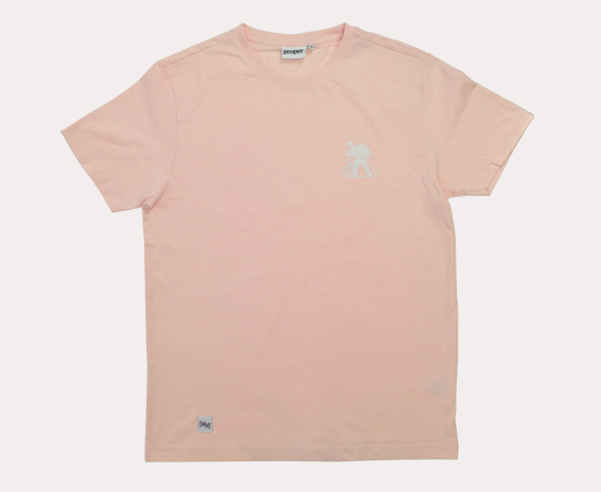 Proper x Long Shot Trek Man T-Shirt - Pink