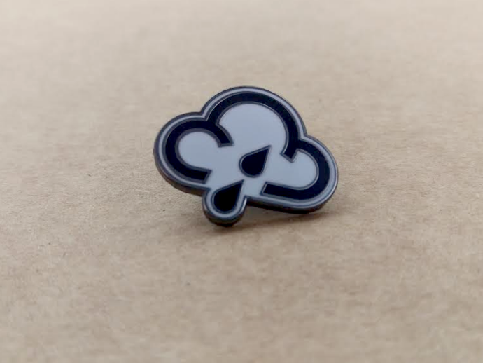 Proper Pin Badge - Cloud and Rain