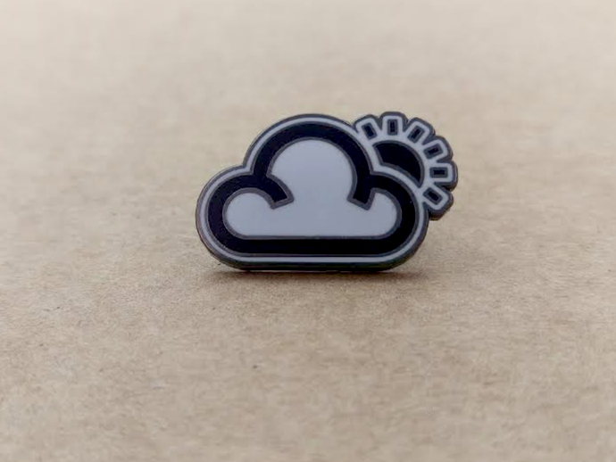Proper Pin Badge - Cloud and Sun