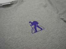 Proper x Long Shot Trek Man T-Shirt - Grey Marl/Purple