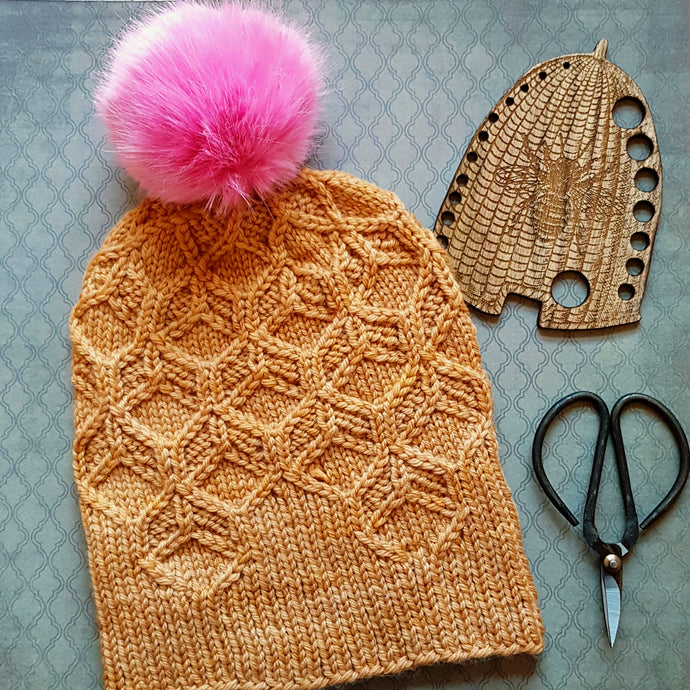 Project Inspiration - None of Your Beeswax Hat