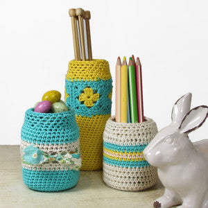 Crochet Covers for Upcycled Glass Jars