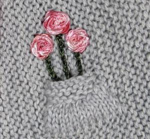 Free Tutorial - Adding a Pocket Bouquet to Your London Cardigan
