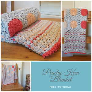 Peachy Keen Blanket - Free Crochet Tutorial
