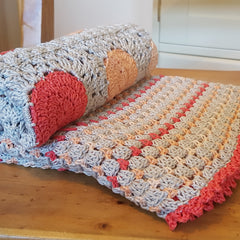 Peachy Keen Crochet Baby Blanket by Two Stix Studios