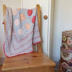 Peachy Keen Crochet Blanket by Two Stix Studios