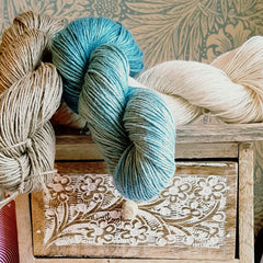 eco-stitch hand dyed linen yarn