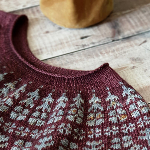 HFS Pattern + Yarn Kit - Alice in Bloom Pip Colourwork Sweater - Aire & Rose Window