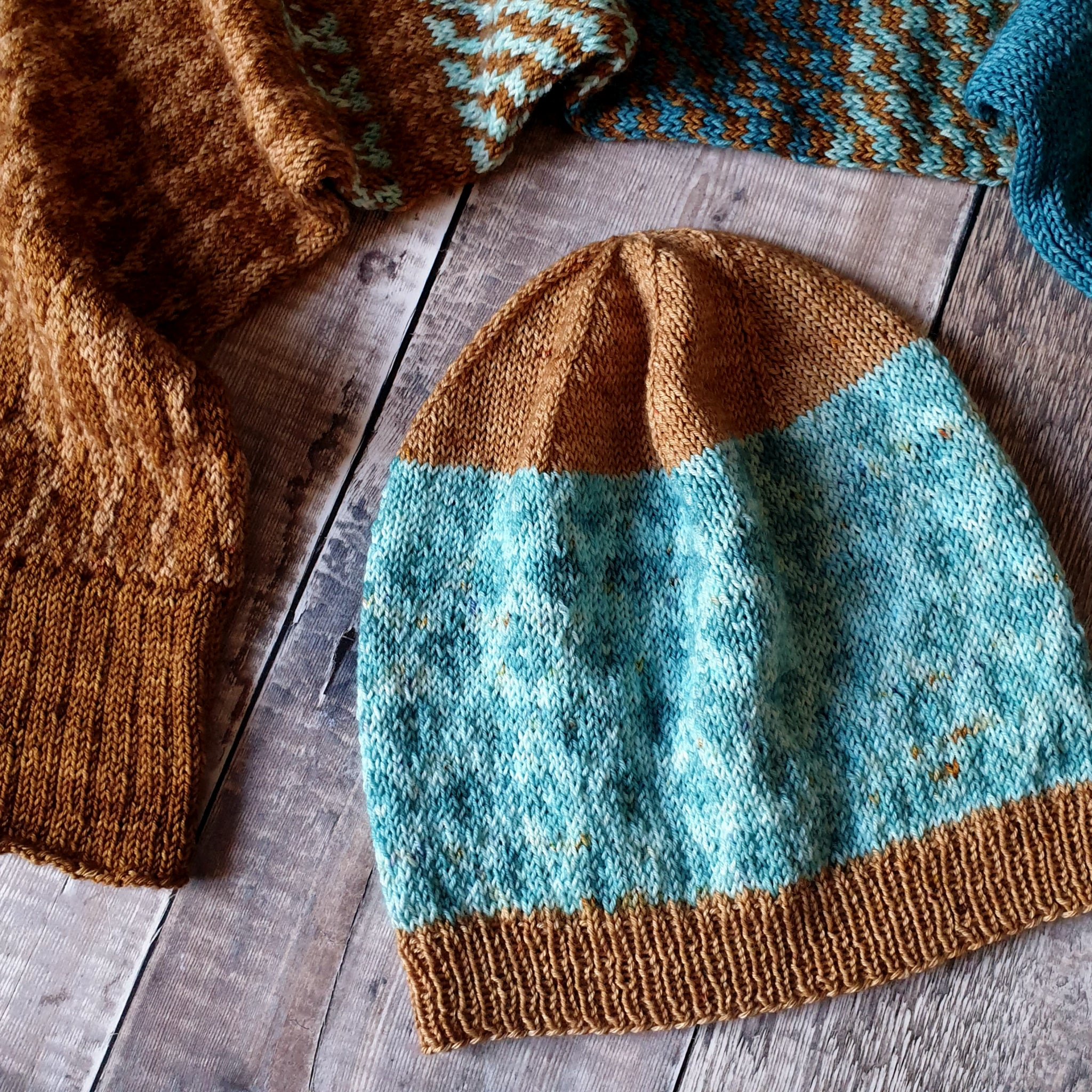 Clifton Village Scarf & Hat Pattern Set - HFS Original - Downloadable PDFs