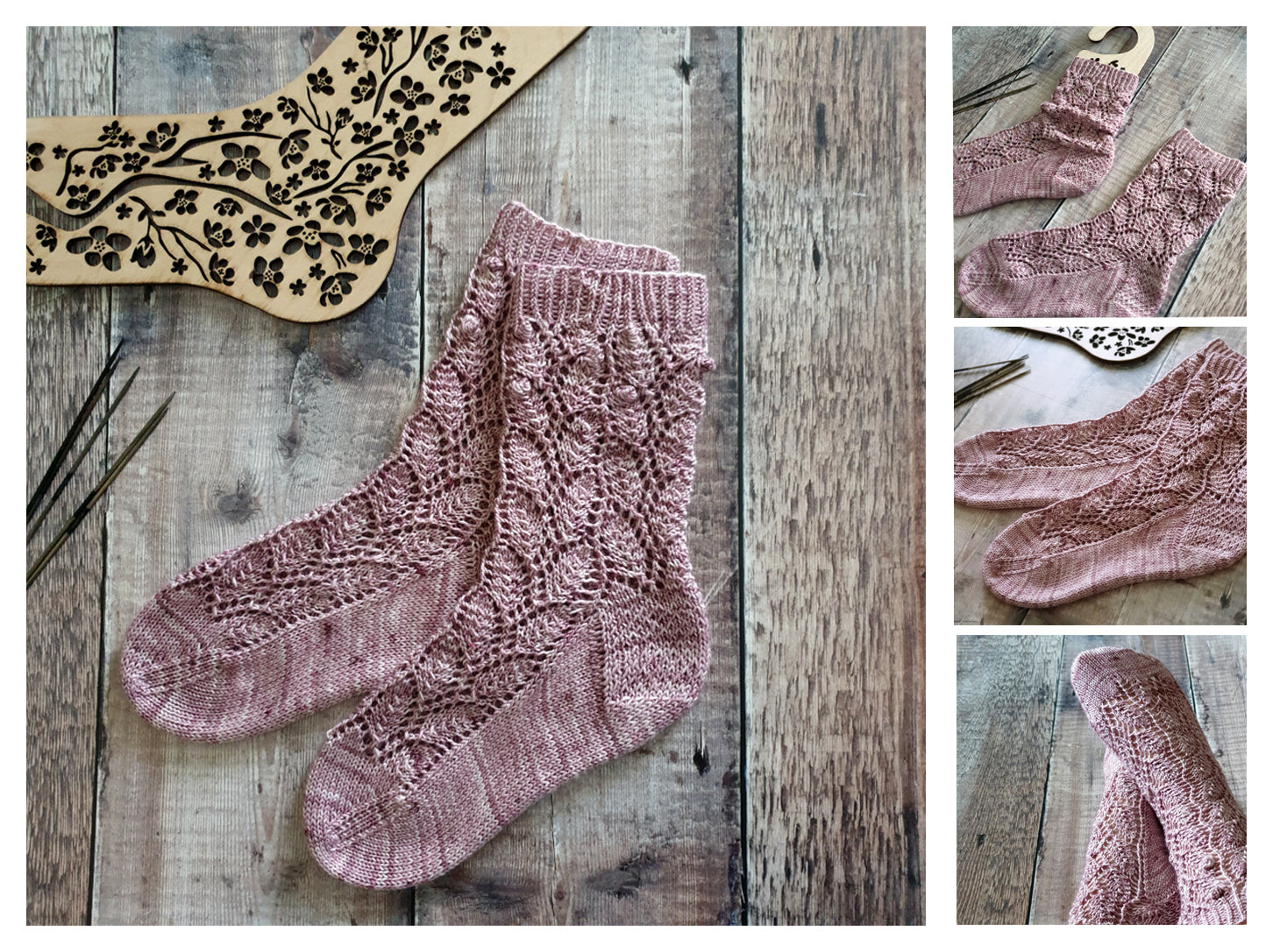 Fiona's Fancy Sock Pattern - HFS Original - Downloadable PDF