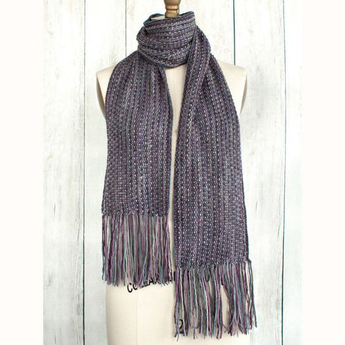 Free Knitting Pattern - Manos del Uruguay Fringed Violet Scarf - Downloadable PDF