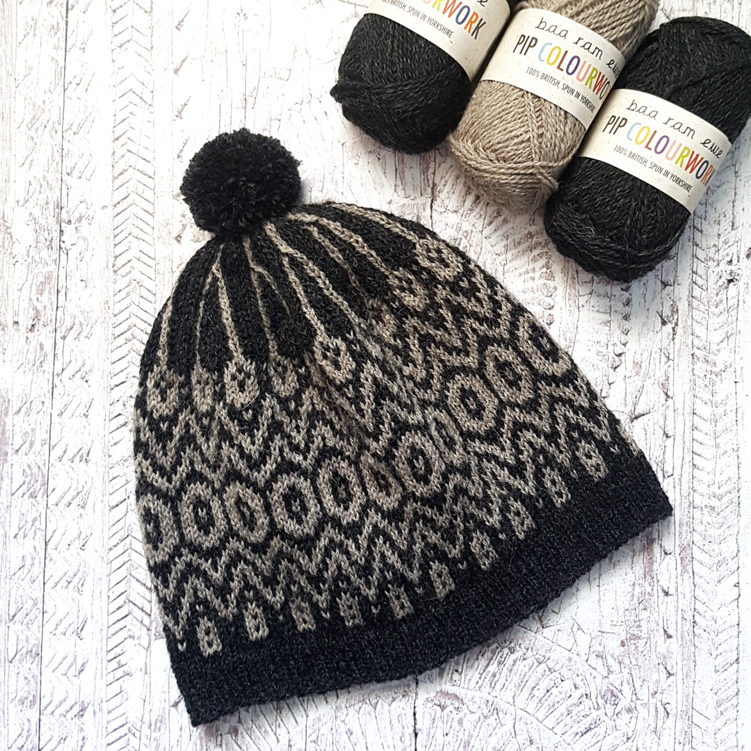 Morgan Hat Knitting Pattern - HFS Original - Downloadable PDF