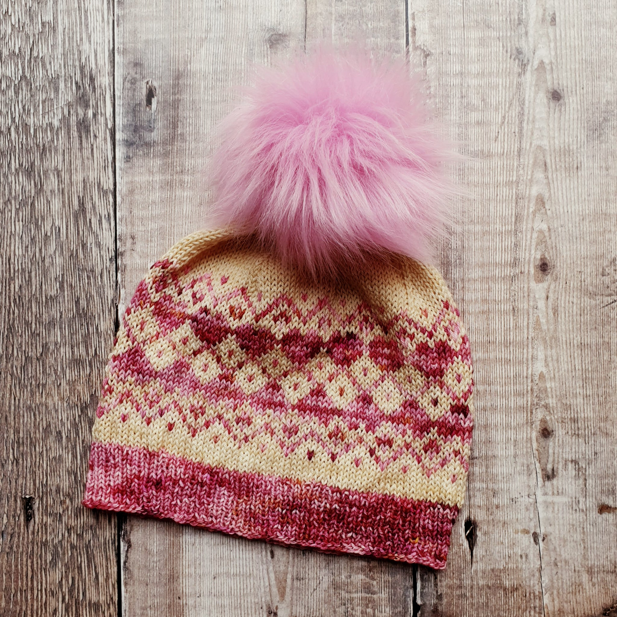 V is Still for Valentine Hat Knitting Pattern - HFS Original - Downloadable PDF