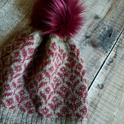 Pattern + Yarn + Pom Pom Kit - Bloom Hat