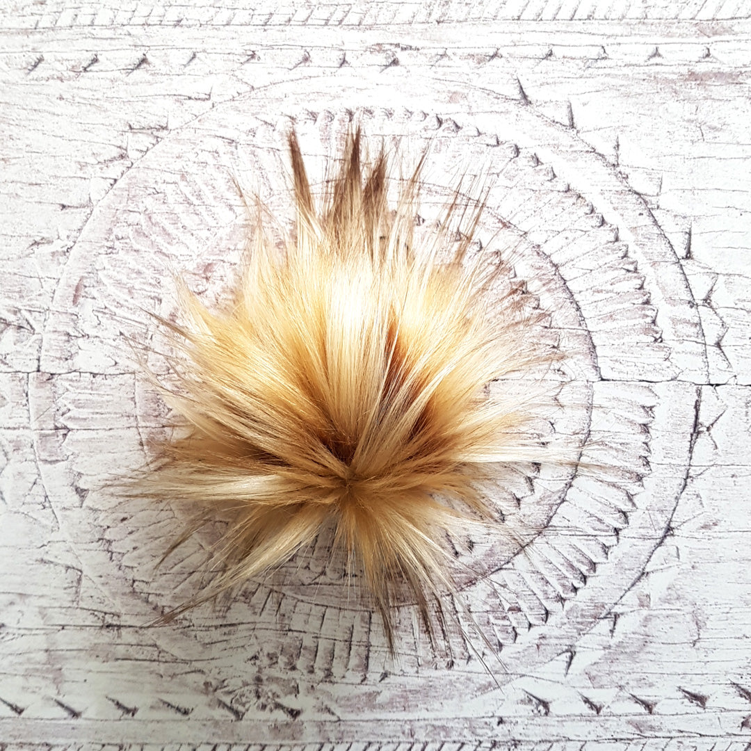 Faux Fur Pom Pom - Butterscotch