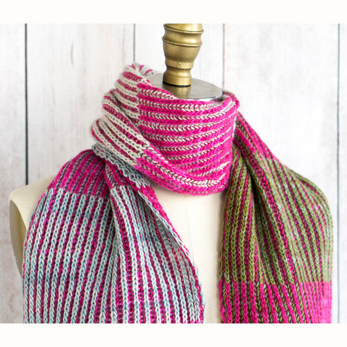 Free Knitting Pattern - Manos del Uruguay Byberry Scarf - Downloadable PDF