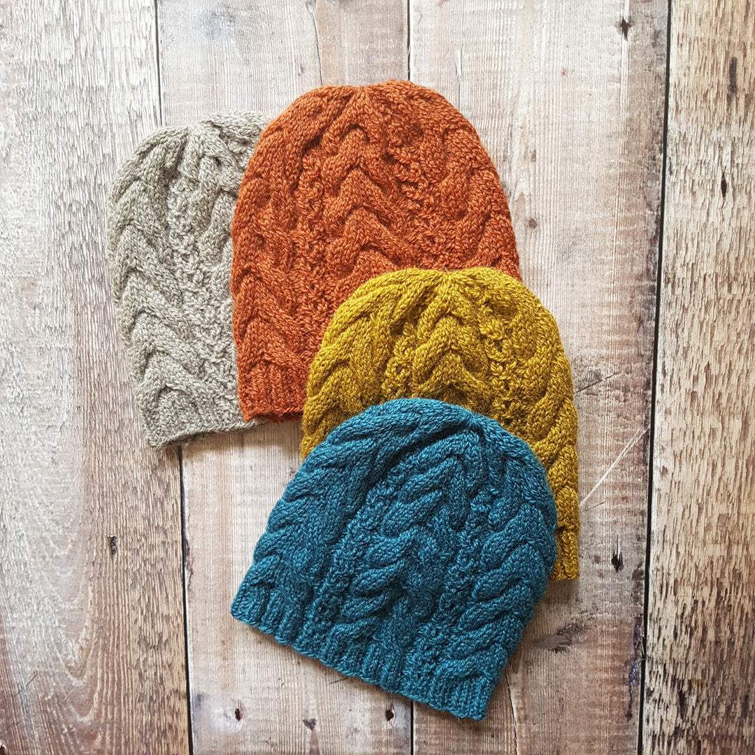 Winterburn Cable Hat Knitting Pattern - Downloadable PDF