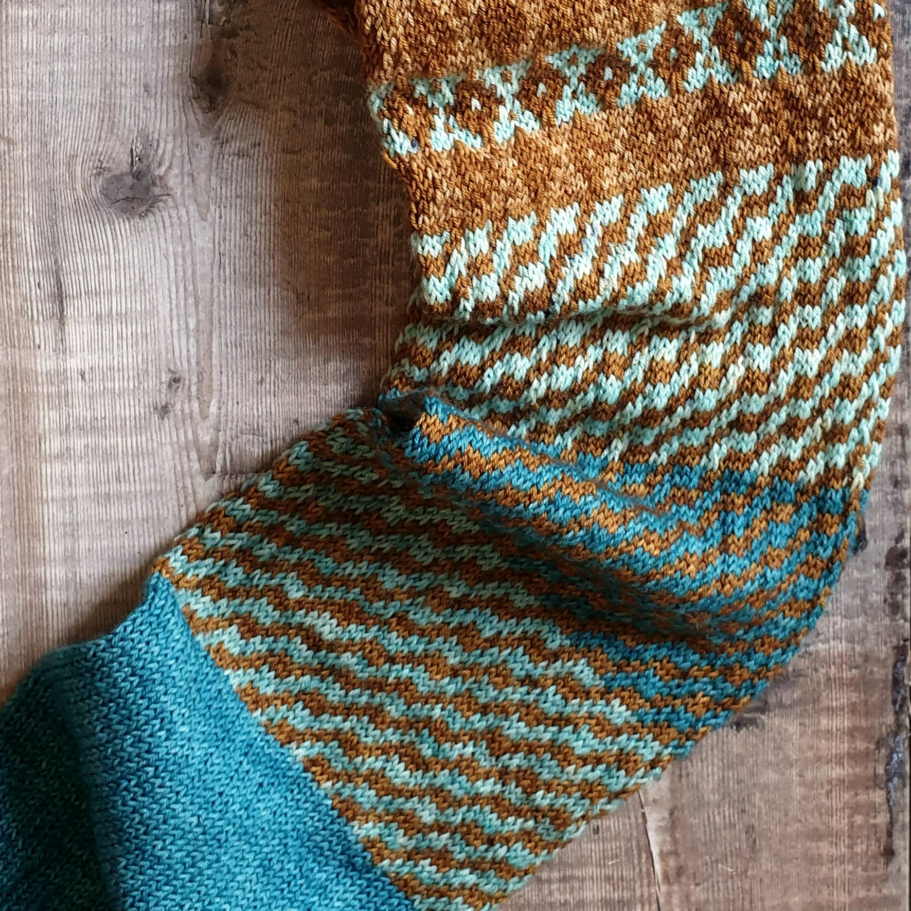 Clifton Village Scarf Pattern - HFS Original - Downloadable PDF