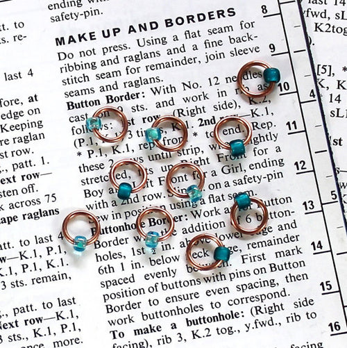Copper Stitch Markers