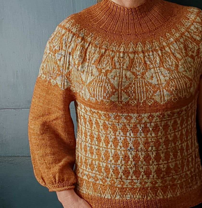 Elda's Energy Sweater Pattern - HFS Original - Downloadable PDF