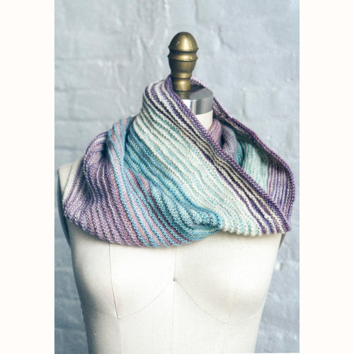 Free Knitting Pattern - Manos del Uruguay Fino Shadow Cowl - Downloadable PDF