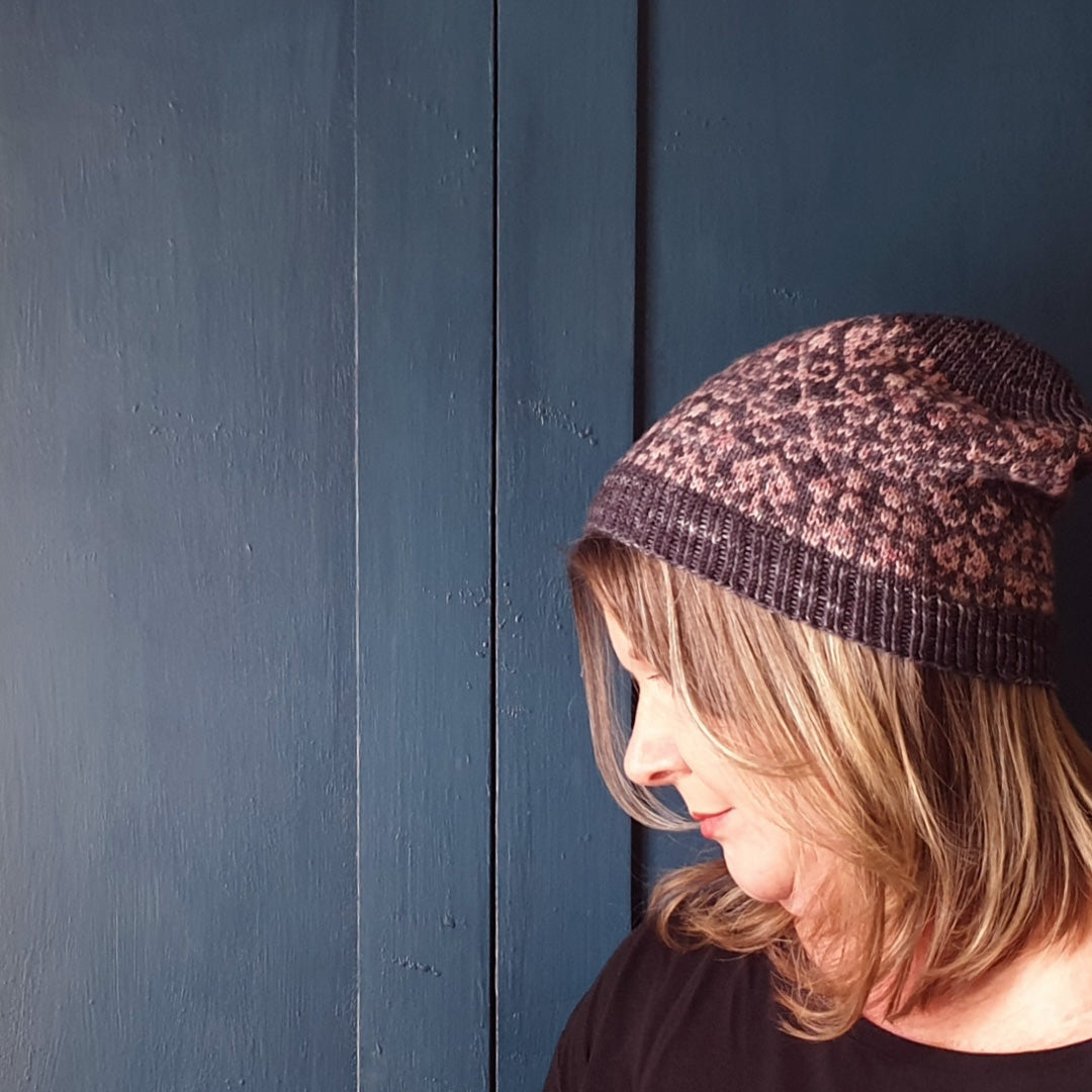 Fleur Hat Knitting Pattern - HFS Original - Downloadable PDF