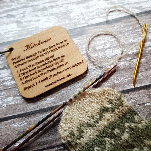 Katrinkles Kitchener Stitch Mini Cheat Sheet