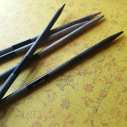 "LYKKE Driftwood Double Pointed Knitting Needles 6"" - Set of 5"
