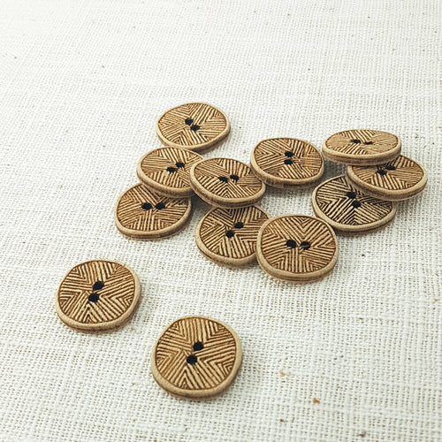 Katrinkles Line Bamboo Buttons - 1""