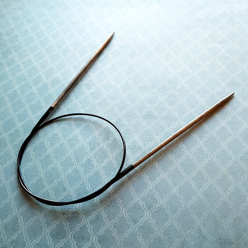 "LYKKE Driftwood Fixed Circular Knitting Needles - 40""/100cm"