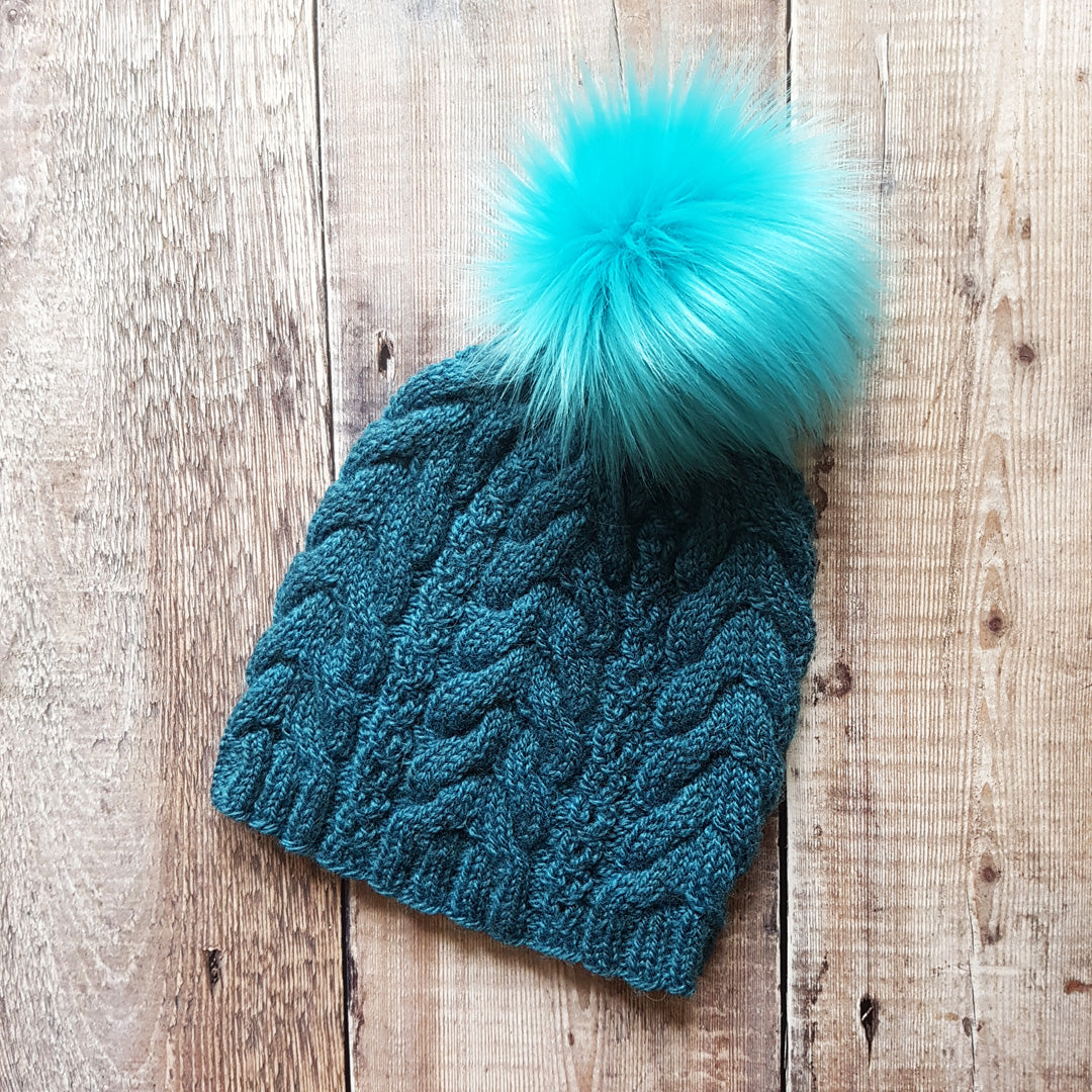 Cable Knit Hat - Lotherton (In Stock, Ready to Ship)