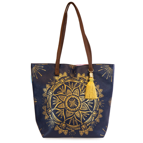 Mandala Bucket Tote Project Bag