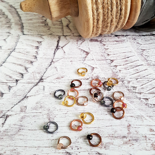 Metallic Stitch Markers - Set of 20