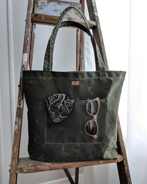Waxed Canvas Tote Project Bag