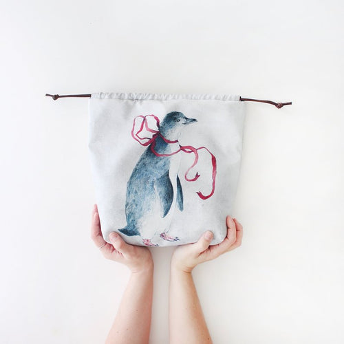 Penny Penguin Organic Cotton Project Bag
