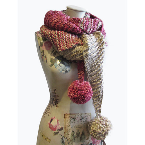 Raspberry Meringue Scarf - HFS Original Free Knitting Pattern