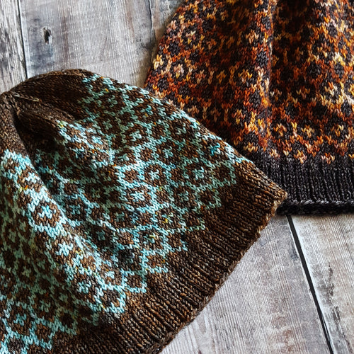 Reflections Hat Knitting Pattern (4 Ply Version) - HFS Original Downloadable PDF