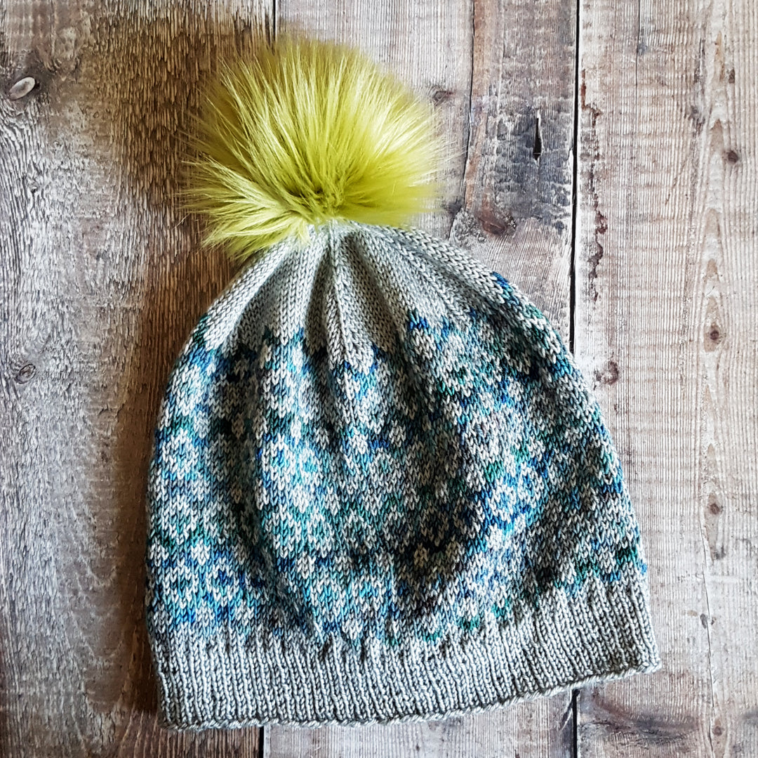 Reflections Hat Knitting Pattern 4 Ply - Fair Isle Hat ...