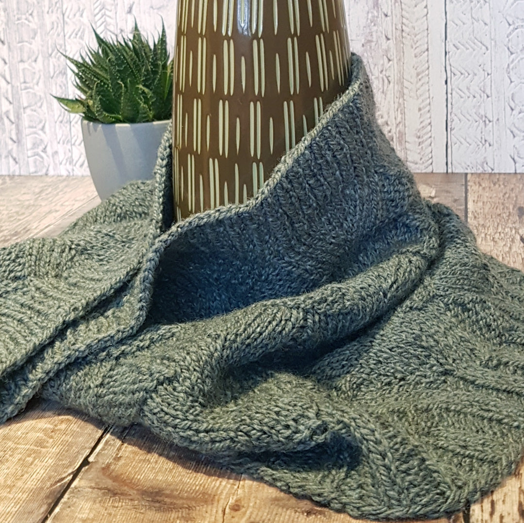 Ryan Cowl Knitting Pattern - HFS Original - Downloadable PDF