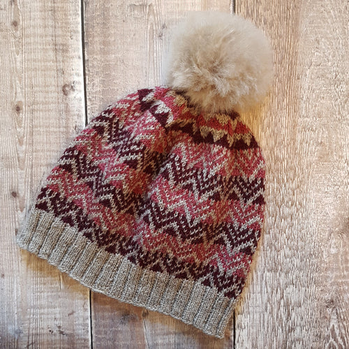 Yarn + Alpaca Pom Pom Kit - Sawley Hat