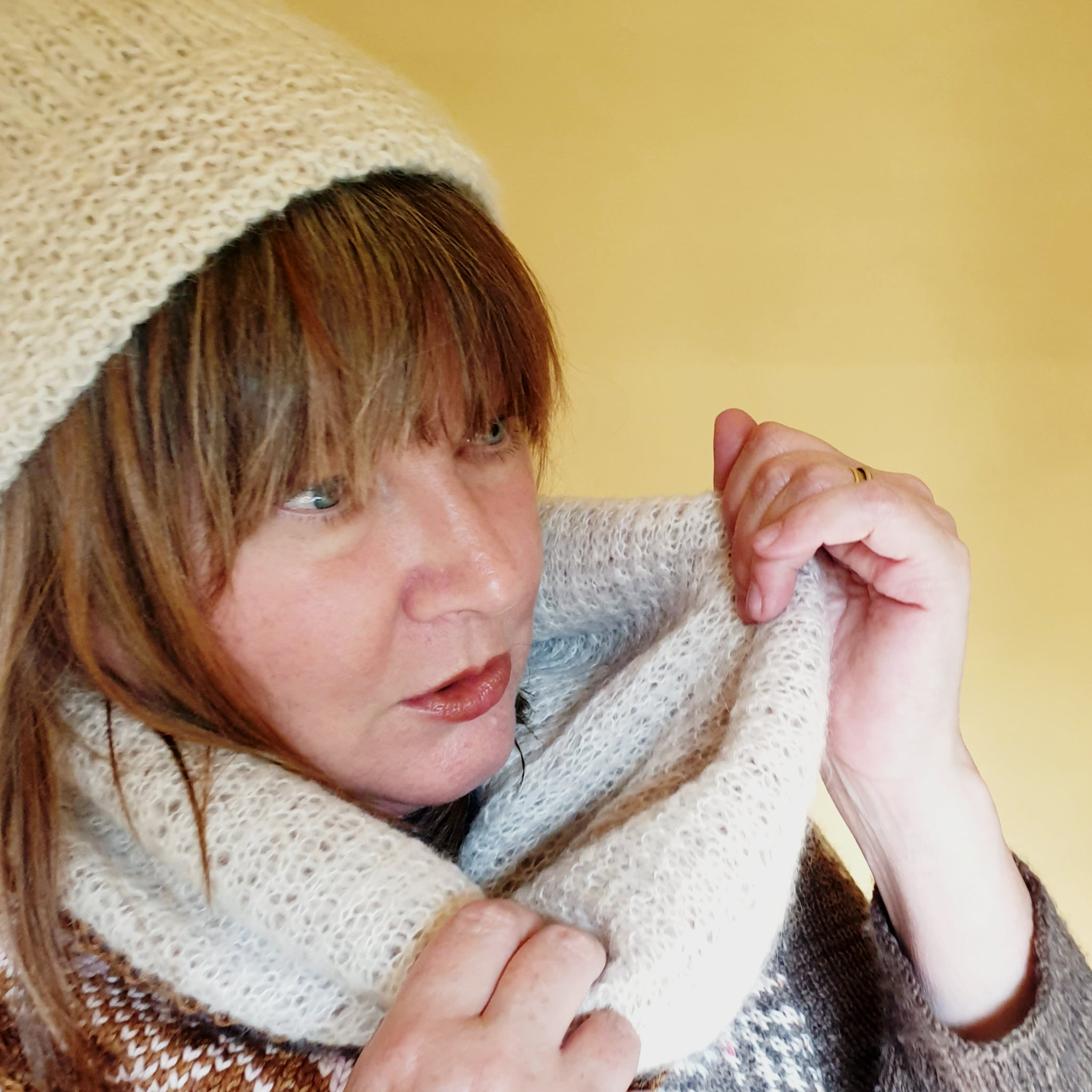 Bridge End Cowl & Hat Patterns Set - HFS Original - Downloadable PDFs