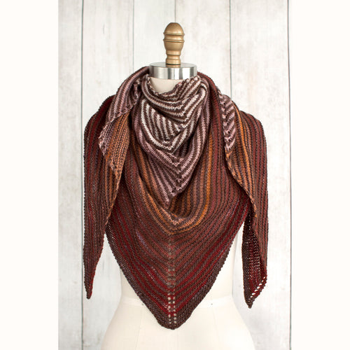 Free Knitting Pattern - Manos del Uruguay Fino Shadow Shawl - Downloadable PDF