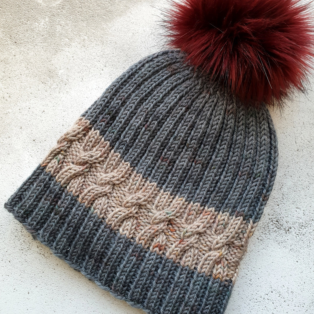 With a Twist Hat Knitting Patterns - 2 Patterns - HFS Original - Downloadable PDF