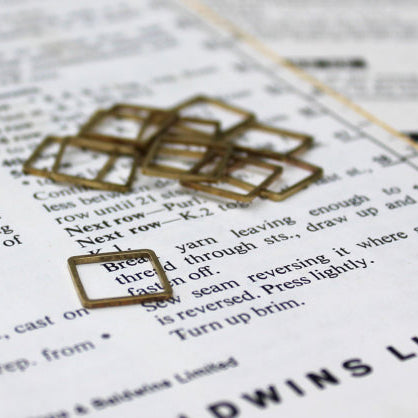 Square Brass Stitch Markers